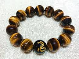 picture of top 7a tiger s eye natural stone chinese zodiac charm bracelet for good luck and