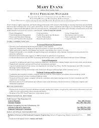 Conference Manager Sample Resume Mitocadorcoreano Com