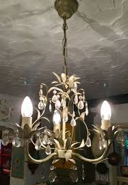 laura ashley lavenham 3 arm chandelier with glass drops adjule chain