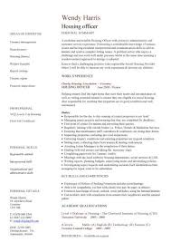 Resume Template Office Simple Housing Officer CV Sample Tenancy Management CV Layout Resume