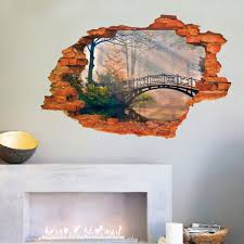 3d broken wall removable wall sticker art decal  on wall art decals for living room with 3d broken wall removable wall sticker art decal living room decor