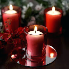 red candle holders red votive candle tea light holders white candles wedding spa party venue decor red candle holders red glass