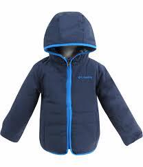 columbia colombia kids cotton reversible jacket double trouble jacket omni shield omnishield fleece and padded winter outerwear sportneyby navy