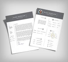 Modern Minimalist Resume Free Template Resume Template Free Ai Free Minimalist Resume Template Cover Letter