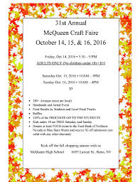 st annual mcqueen craft fair wearewcsd 31st annual full page flyer 2