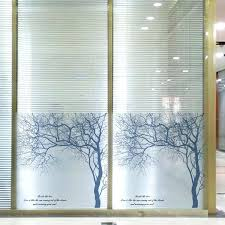 stain glass decal high quality tree pattern home decor removable stained glass window stickers privacy