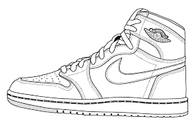 These days, air jordans are sold for a small profit until the seller has enough money to buy the latest or vintage editions. Jordan Shoe Coloring Pages Enjoy Coloring Art Lessons Sneakers Drawing Shoes Drawing Air Jordan Shoes