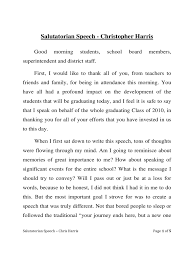 Speech Sample Salutatorian Speech Examples 24 Free Templates in PDF Word Excel 3