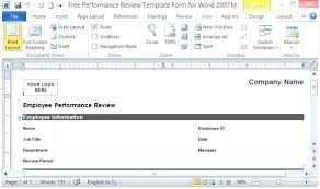 Performance Appraisals Template – Bestuniversities.info