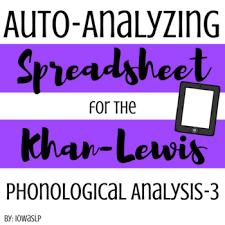 Khan Lewis Phonological Processes Chart Khan Lewis Phonological Analysis 3 Auto Analyzing Spreadsheet