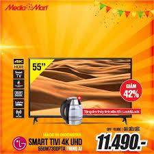 🔥Smart Tivi LG 4K UHD 55 inch... - MediaMart Ứng hoà