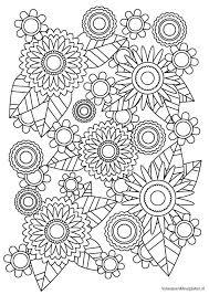 Volwassen Kleurplaat Bloem 1 Volwassen Kleurplaten Mandala Bloem