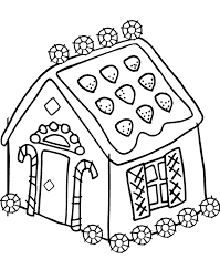 Gingerbread House Coloring Pages For Kids Printable Coloringstar