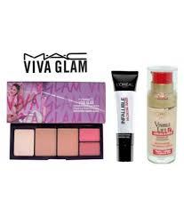 mac viva glam color powder color blush pressed powder foundation primer loreal makeup kit 31 gm pack of 3 mac viva glam color powder color blush