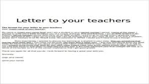 Letters For A Teacher 11 Sample Teacher Thank You Letters Free Sample Example