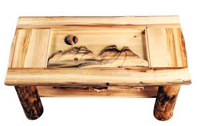 aspen heirloom shadow box coffee table with drawer