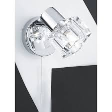 Chrome Wall Lights With Pull Cord
