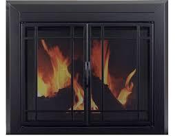 pleasant hearth easton fireplace glass door