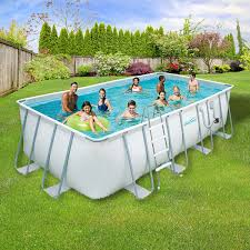in ground pools rectangle. Amazon.com : Summer Waves Elite Rectangular Metal Frame Swimming Pool Package, 9\u0027 X 18\u0027 Piscinas Familiares Garden \u0026 Outdoor In Ground Pools Rectangle O