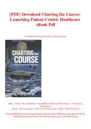 Pdf Download Charting The Course Launching Patient Centric