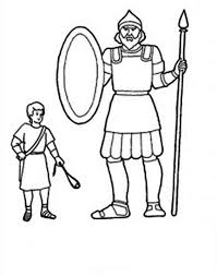 Printable David And Goliath Coloring Pages For Kids Coloringstar