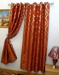 Orange Curtains Living Room Burnt Orange Curtains