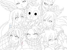 Small Picture Download Fairy Tail Anime Coloring Pages Coloring Page For Kids