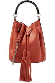 gucci bags for sale. gucci bamboo-trimmed textured-leather shoulder bag bags for sale