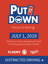 put it down focus on driving
