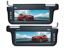 tv visors. tview t102sv 10.2 inch tft lcd sun visor monitor pair tv visors t