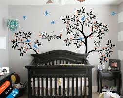 personalized tree wall decal name decal