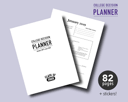 College Planners 2020 Class Of 2020 College Decision Planner