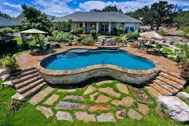 semi inground pool ideas pools google search deck swimming designs semi inground swimming pools o23