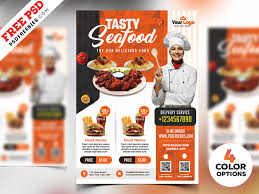 Flyer Design Food Restaurant Flyer Templates Free Psd By Psd Freebies Dribbble
