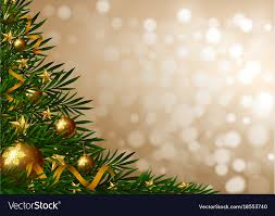 Background Template With Christmas Tree And