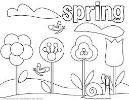 Spring Coloring Pages Roomhiinfo