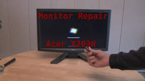Acer X223w Blinking Blue Light How To Easy Monitor Repair Acer X203h
