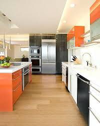 how to pick kitchen cabinets view in gallery kitchen cabinet color scheme that brings together orange how to pick kitchen cabinets