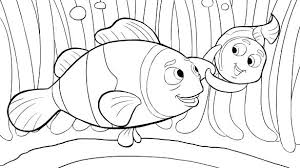 Nemo Colouring Finding Coloring Pages For Toddlers Characters Page