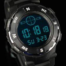 mens tactical watch infantry mens digital wrist watch chronograph tactical army sport black silicone