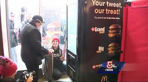 Female Vending Machine Magnificent McDonald's Debuts Boston Big Mac Vending Machine