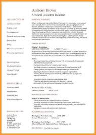 Medical Assistant Resume With No Experience Magnificent Medical Assistant Resume Examples Fresh Medical Assistant Resume No