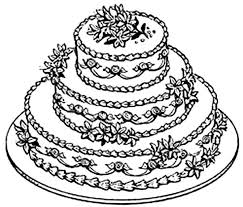 Small Picture Cake Color Page Wedding Cake Coloring Page nebulosabarcom