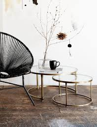 stacking coffee tables. Beautiful Tables Coco Nesting Round Glass Coffee Tables With Stacking F
