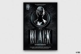 Club Flyer Templates Free Black Party Flyer Template V3 Free Posters Design For Photoshop