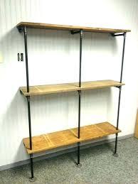black pipe bookshelf shelves shelf wall iron diy industrial black iron pipe shelves closet wall