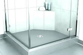 tile redi shower pan with bench ready large size of prefab installation pans base vs ti
