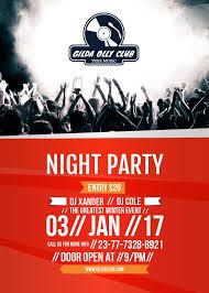 invitation flyer night party invitation flyer 5x7in template design online crello
