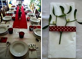 DIY Christmas Table Decorations In Red | My Italian Wedding