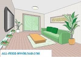 family room clipart. vector room 050 family clipart o